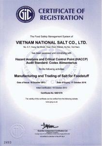 Chứng nhận hệ thống quản lý an toàn thực phẩm( HACCP)